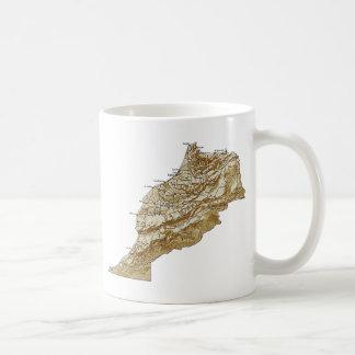 モロッコの旗の~の地図のマグ コーヒーマグカップ