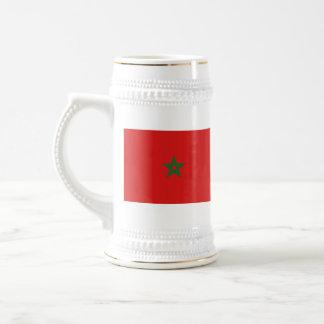 モロッコの旗の~の地図のマグ ビールジョッキ