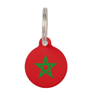 モロッコの旗 ペット ネームタグ