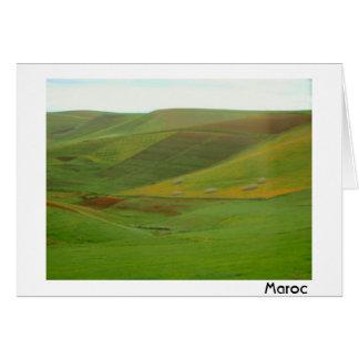 モロッコの景色 カード