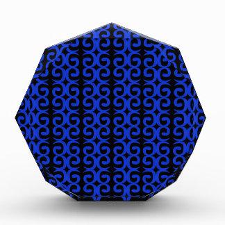 モロッコの暗藍色のファッションの手描きの芸術 表彰盾