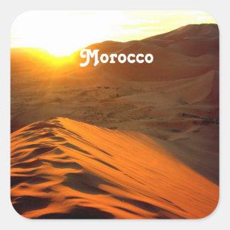 モロッコの砂漠 スクエアシール