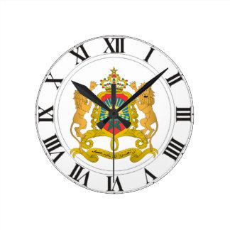 モロッコの紋章付き外衣 ラウンド壁時計