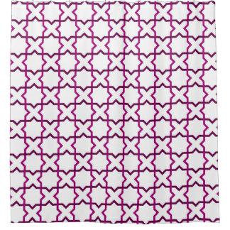 モロッコの織り方パターン シャワーカーテン
