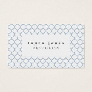モロッコの青いファッションのスタイリストのテンプレート 名刺