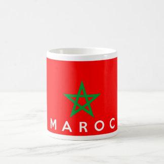 モロッコのmarocの旗の国のフランスのな文字の名前 コーヒーマグカップ