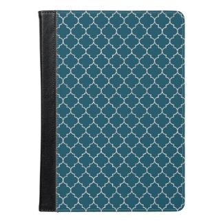 モロッコエレガントで青いパターン iPad AIRケース