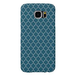 モロッコエレガントで青いパターン SAMSUNG GALAXY S6 ケース