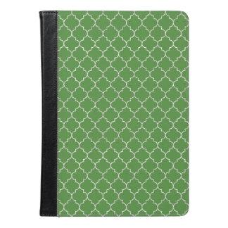 モロッコエレガントな緑のパターン iPad AIRケース
