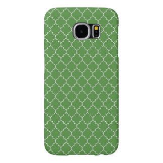 モロッコエレガントな緑のパターン SAMSUNG GALAXY S6 ケース