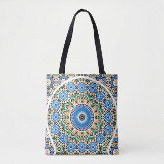 モロッコパターンが付いているトートバック トートバッグ
