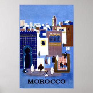 モロッコ旅行ポスター ポスター