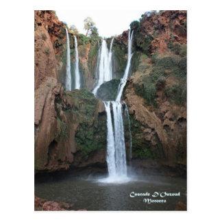 モロッコ滝D'Ouzoud ポストカード