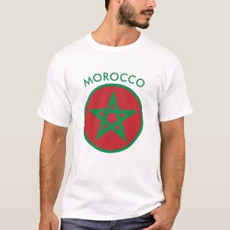 モロッコ-モロッコの旗の人のTシャツ Tシャツ
