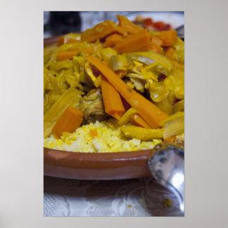 モロッコ、Tetouan。 昔ながらのなモロッコの食事の ポスター