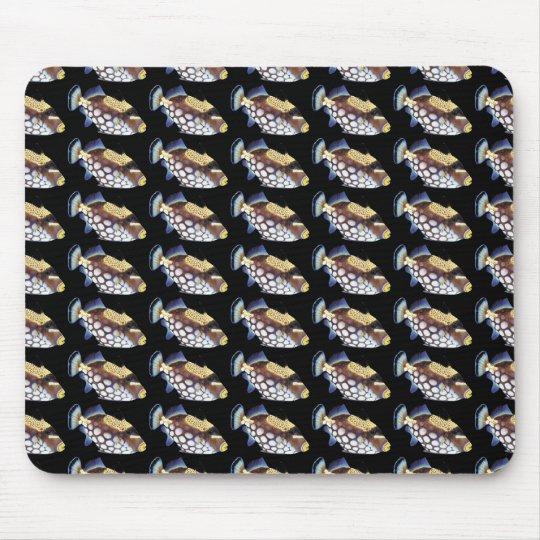 モンガラカワハギのマウスパッド,No.02 マウスパッド