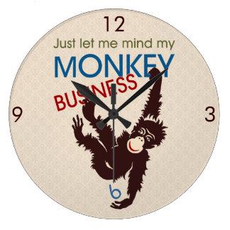 モンキービジネス ラージ壁時計