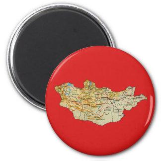 モンゴルの地図の磁石 マグネット
