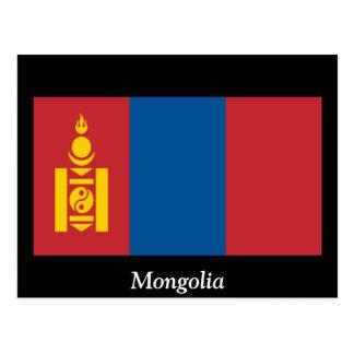 モンゴルの旗 ポストカード
