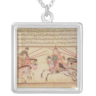 モンゴルの種族間の戦い、13世紀 シルバープレートネックレス