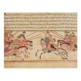 モンゴルの種族間の戦い、13世紀 ポストカード