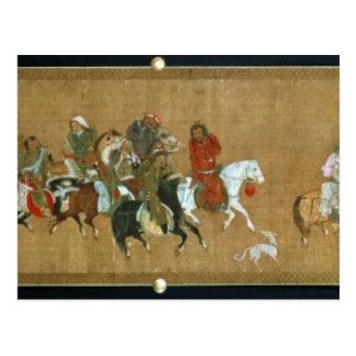 モンゴル人、中国語、14世紀の護送 ポストカード