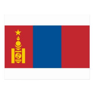 モンゴル- Монголулсынтөрийндалбааの旗 ポストカード