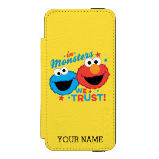 モンスターで私達は信頼します!  はあなたの名前を加えます INCIPIO WATSON™ iPhone 5 ウォレット ケース
