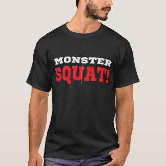 モンスターのずんぐりとしたティー Tシャツ