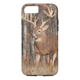 モンスターのオジロ鹿シカ、木びき台 iPhone 8/7ケース