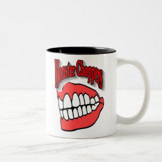モンスターのチョッパーのロゴ ツートーンマグカップ