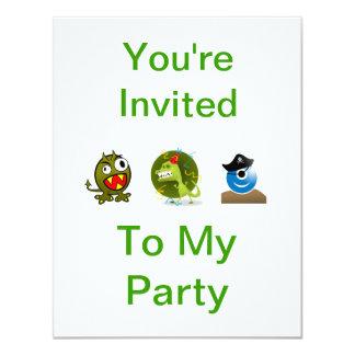 モンスターのパーティの招待状 カード