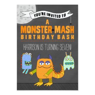 モンスターのマッシュの誕生日の強打の招待状 カード