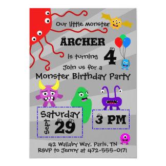 モンスターの子供の誕生日の招待状 カード
