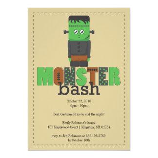モンスターの強打のハローウィンパーティの招待状 カード