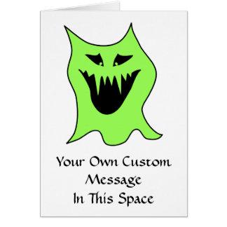 モンスターの漫画。 緑および黒 カード