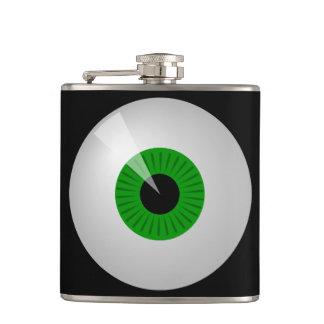 モンスターの目のCustmのおもしろいな緑フラスコ フラスク