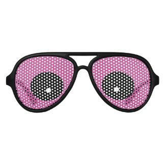 モンスターの紫色の目のパーティ アビエーターサングラス