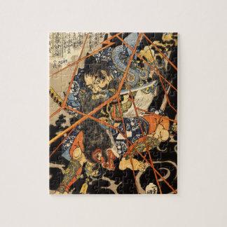 モンスターの絵画を殺している古い武士 ジグソーパズル