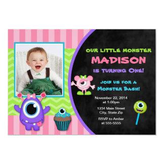 モンスターの誕生日の招待状モンスターの女の子の招待 カード