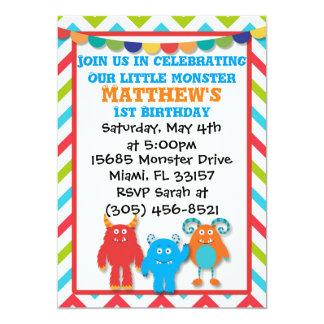 モンスターの誕生日の招待状 カード