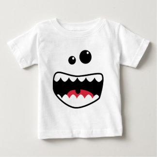 モンスターの顔 ベビーTシャツ
