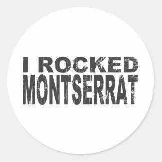 モンセラートのステッカー 丸形シール・ステッカー