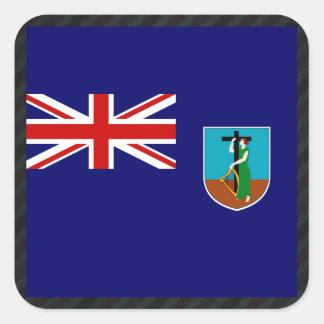 モンセラートの公式の旗はの縞で飾ります スクエアシール