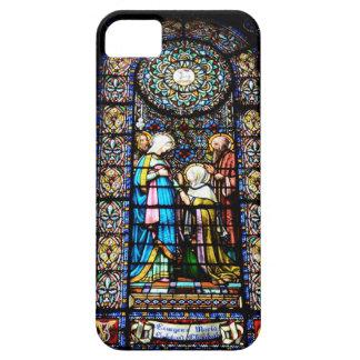 モンセラートの場合のステンドグラス iPhone SE/5/5s ケース