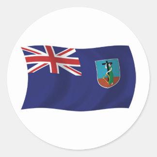 モンセラートの旗のステッカー ラウンドシール