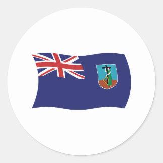 モンセラートの旗のステッカー 丸形シールステッカー