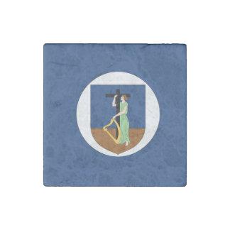 モンセラートの旗 ストーンマグネット