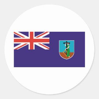 モンセラートの旗 ラウンドシール