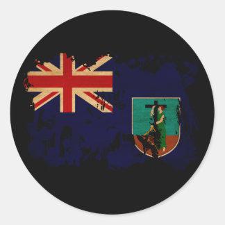 モンセラートの旗 丸型シール